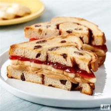 Tired of the jelly soaking through your PB & J? Spread peanut butter on both sides of the bread and put jelly in the middle.